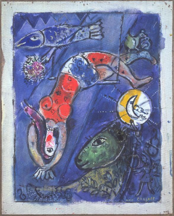 Marc Chagall, Le Cirque bleu, 1950 Image via Tate