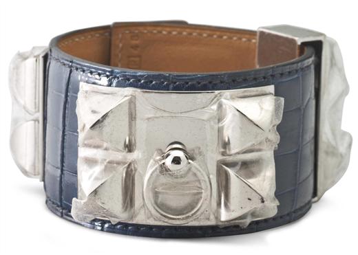 Hermès armband i aligatorskinn. Fast pris: 2,750 USD. Christie's online shop
