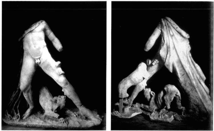 Så som skulpturen såg ut när den var någorlunda intakt