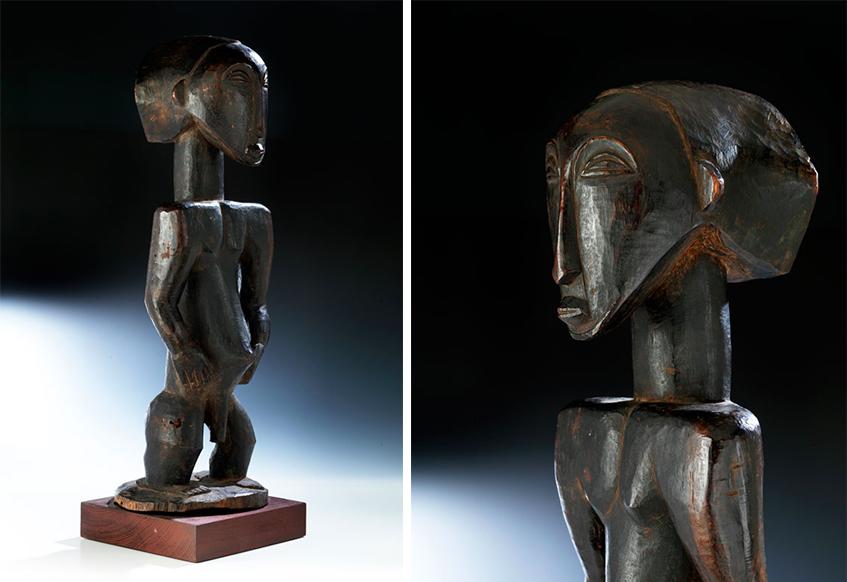 Große männliche Ahnenfigur des Stammes Hemba, 1. Drittel 20. Jh.   Fotos: Hampel