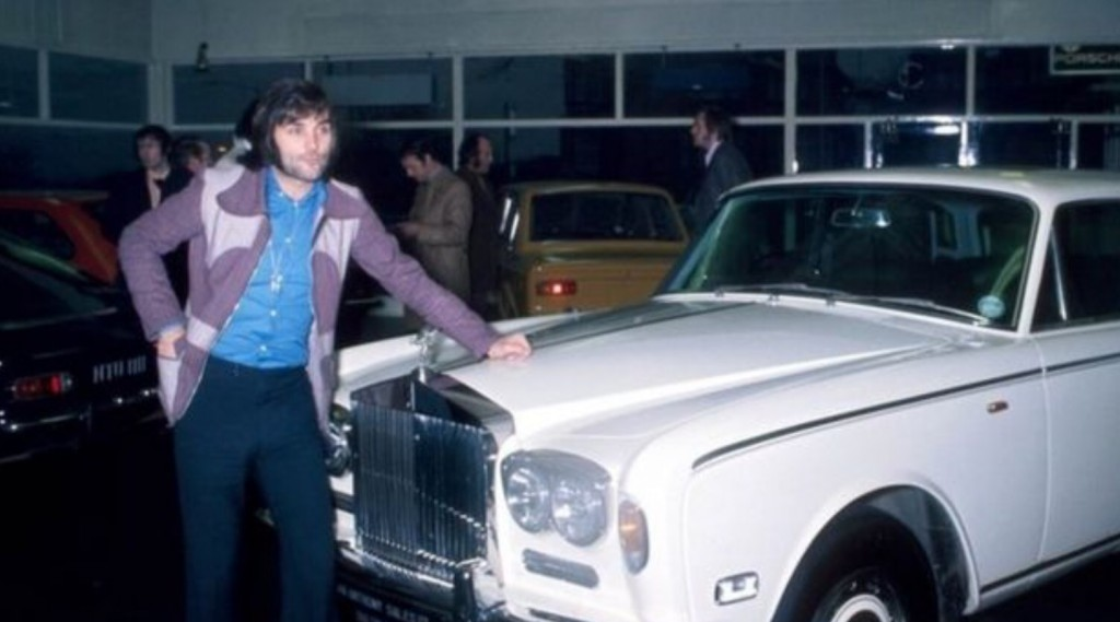 George Best et sa Rolls-Royce Silver Shadow Image: H&H Auctions