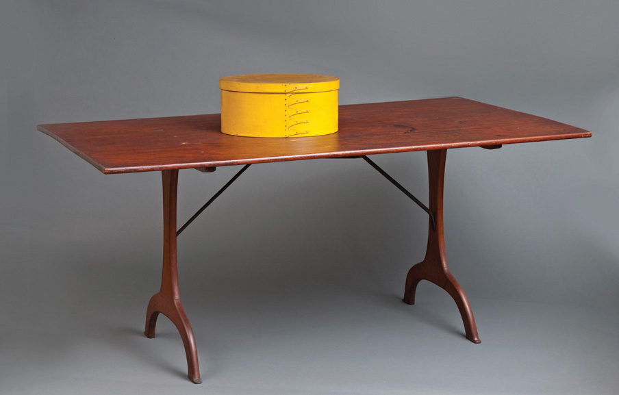 Ednas Table with Yellow Box, Shaker furniture