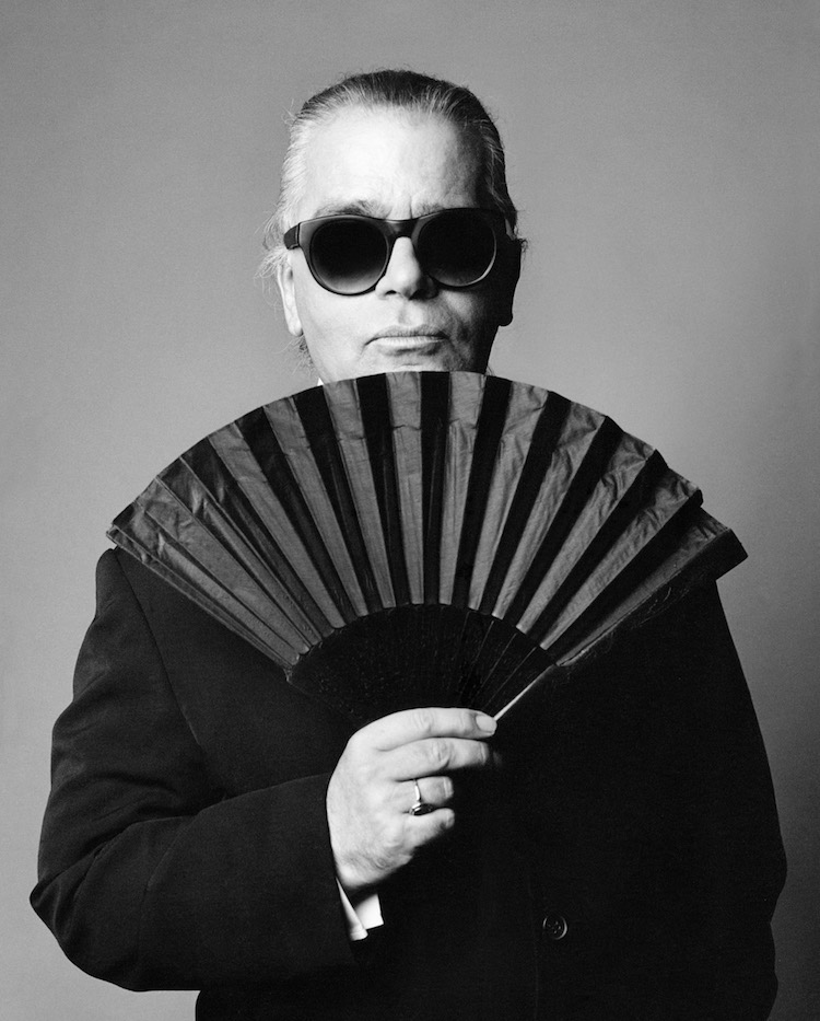 Karl Lagerfeldt fotograferad av Patrik Andersson för tyska Vouge