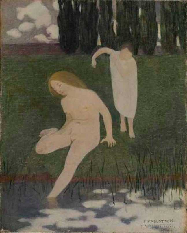 Félix Vallotton, Petites baigneuses, 1893, image ©Rossini