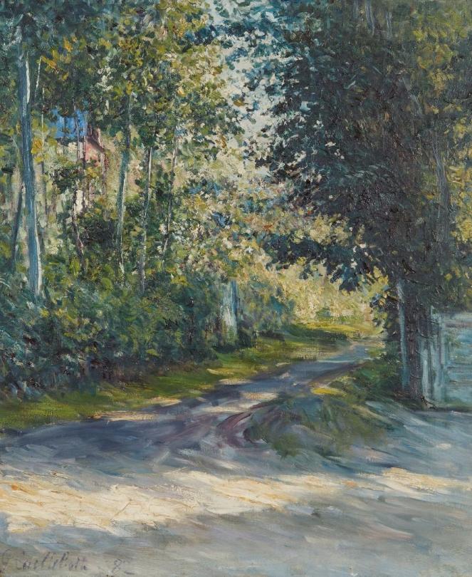 Gustave CAILLEBOTTE (Paris 1848 - Genevilliers 1894) L'allée de la villa des Fleurs, Trouville, 1882