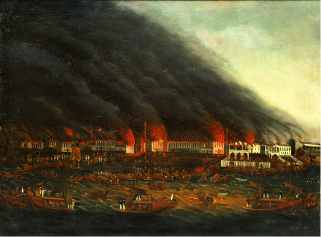 Canton Fire of 1822, image courtesy of Peabody Essex Museum