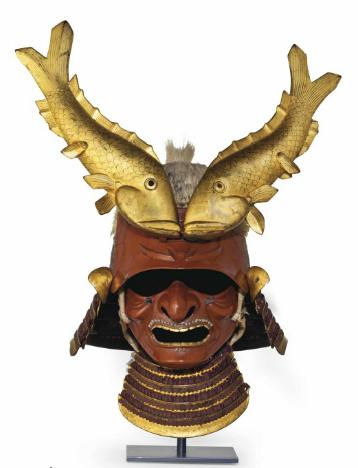 Casque kawari kabuto Image via Christie's