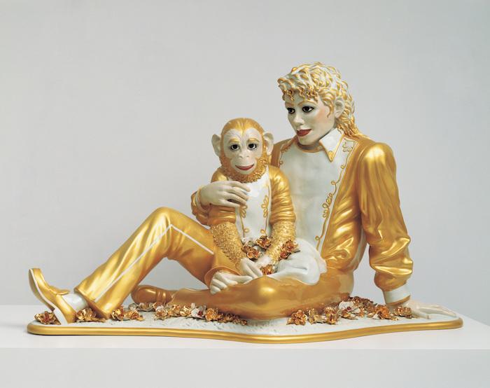 Jeff Koons, Michael Jackson and Bubbles, 1988. Porslin. Foto: whitney.org