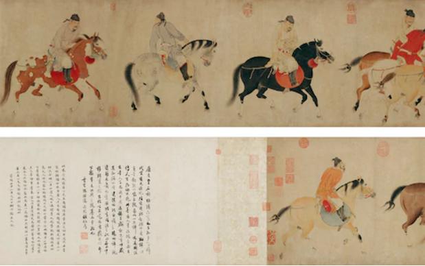 Five Drunken Kings Return on Horses, Ren Renfa, Courtesy CHINA DAILY