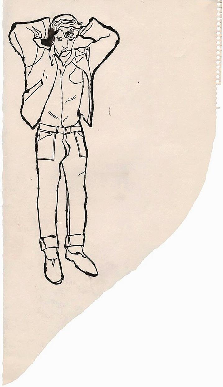 Andy Warhol  James Dean Look-alike, 1957