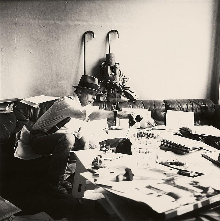 Erika Kiffl, Joseph Beuys, Atelier Drakeplatz, Düsseldorf, 1978