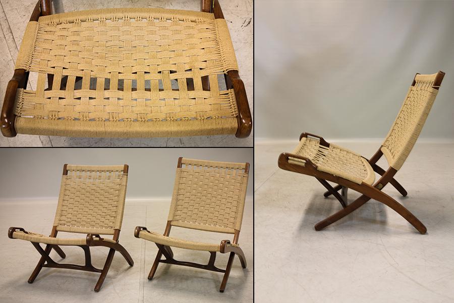 """hans J. Wegner, efter, fällstolar, ett par, """"Folding Chair"""", Carl Hansen & Søn, Danmark, 1900-talets andra hälft. Utrop: 5.000 Sek. Auktionsbyrån Effecta"""