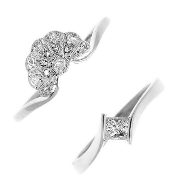 Deux bagues diamant Fellows Estimation: 110 €