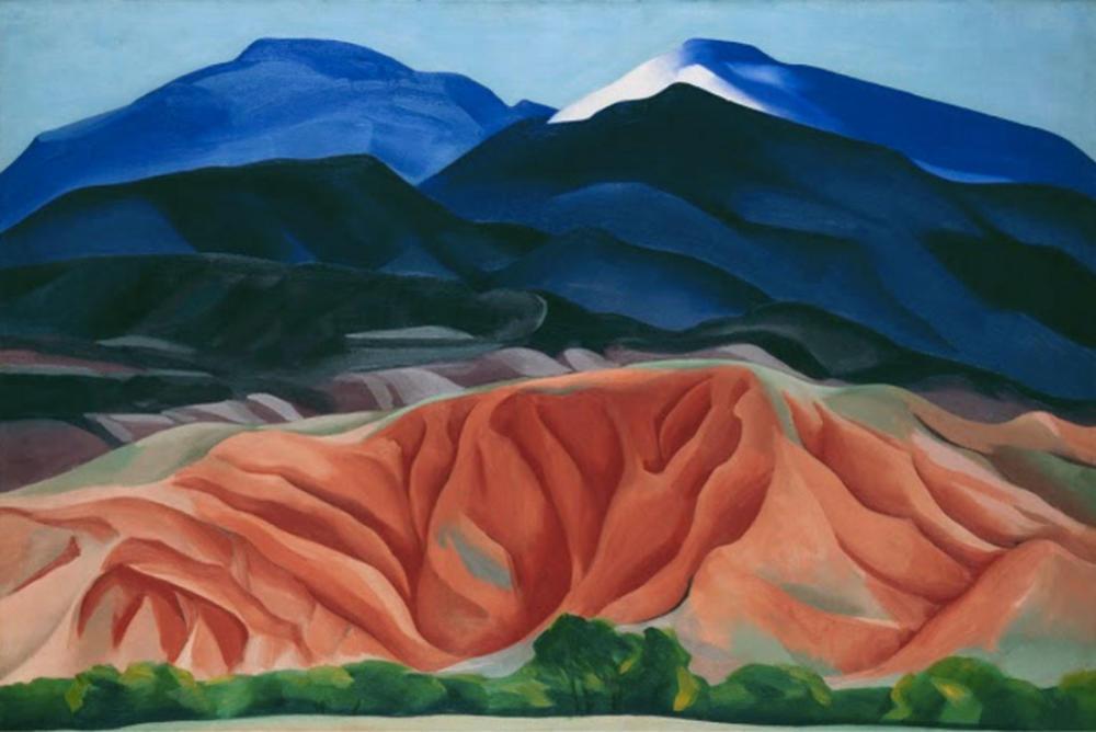 "GEORGIA O'KEEFFE. ""Black Mesa Landscape. New Mexico: Out Back of Marie's II"" (1930)."