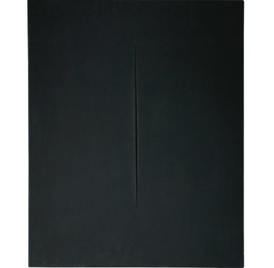 Lucio Fontana, Concetto Spaziale, Attesa, Waterpaint. Utropspris: 12 500 000 SEK. Sotheby's