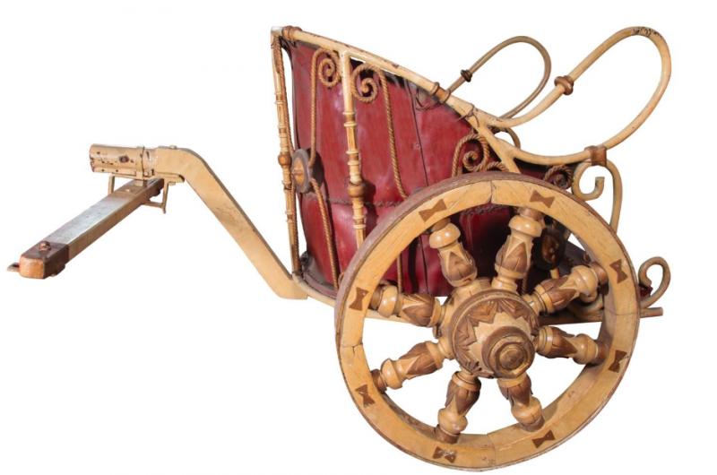 Vagnen styrd av Charlston Heston i kultfilmen Ben-Hur.