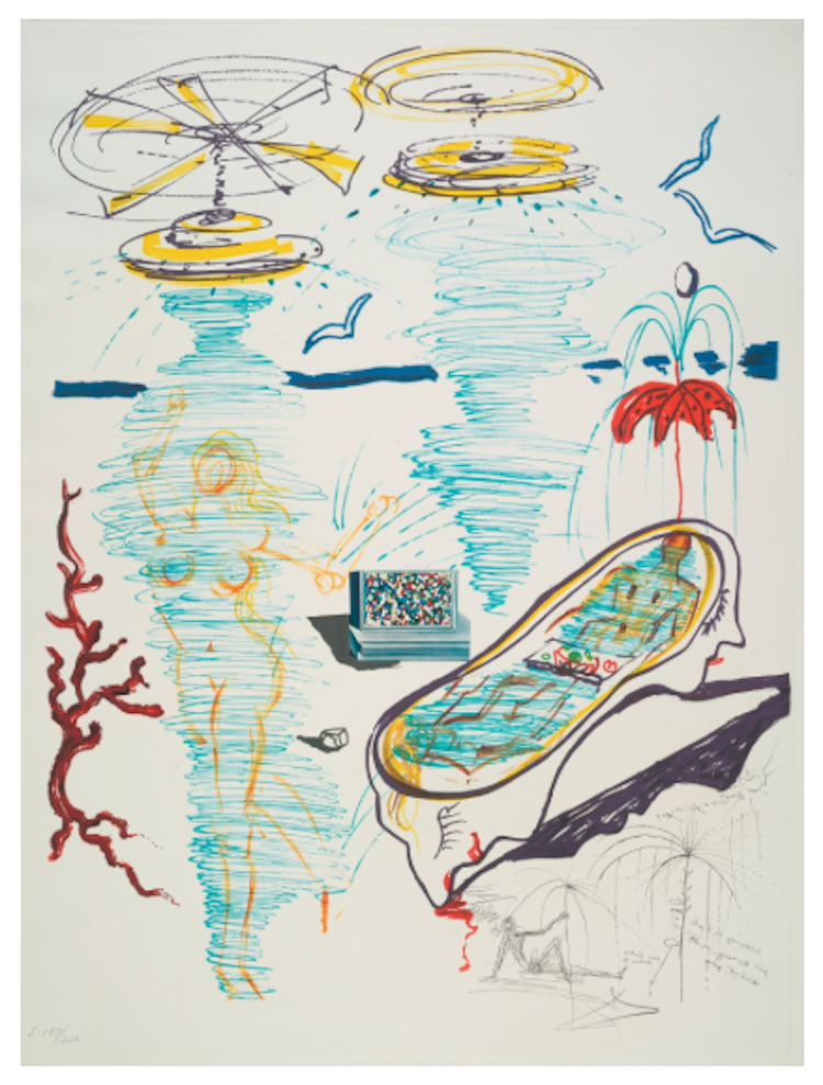 Salvador Dali, Imagination and Objects of the Future (M./L. 822-31) Utropspris 68 700 SEK, Sotheby's