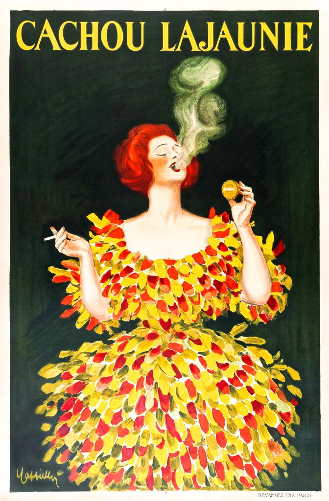 Leonetto Cappiello Cachou Lajaunie Original Poster Barcelona