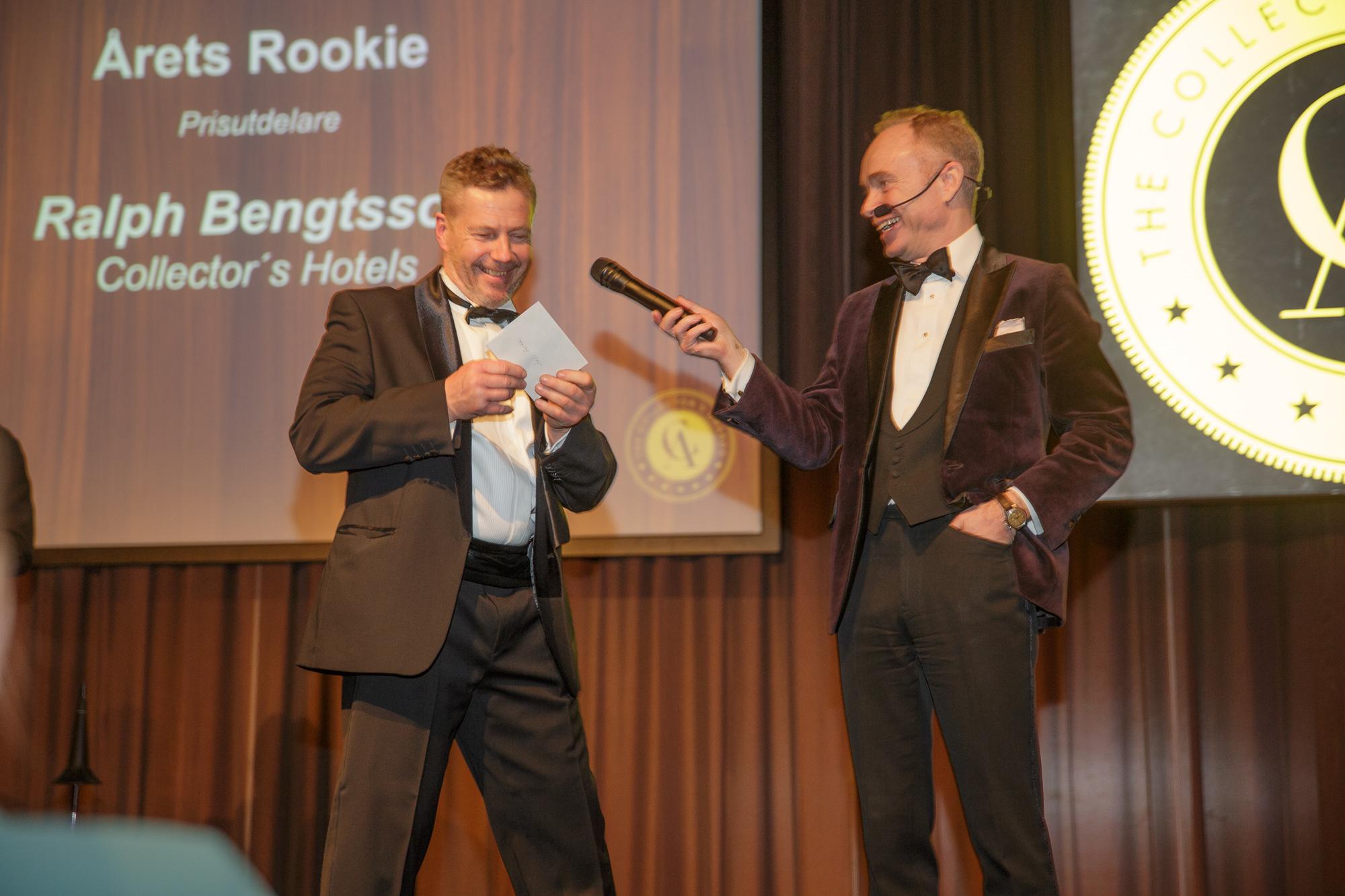 Ralph Bengtsson och Peder Lamm presenterar Årets Rookie