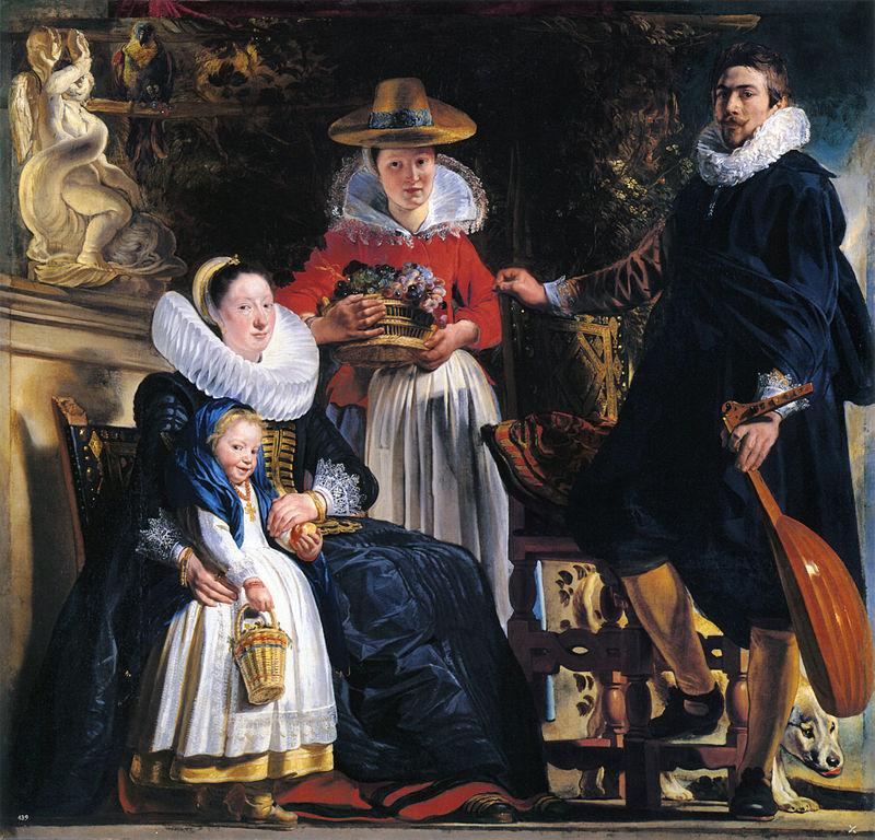 Jacob Jordaens, Autoportrait avec sa femme et sa fille Elisabeth (1621-1622), Madrid, musée du Prado