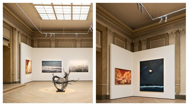 Paintings by Yin Zhaoyang, Gao Weigang and Shi Zhiying and sculpture by Zheng Lu