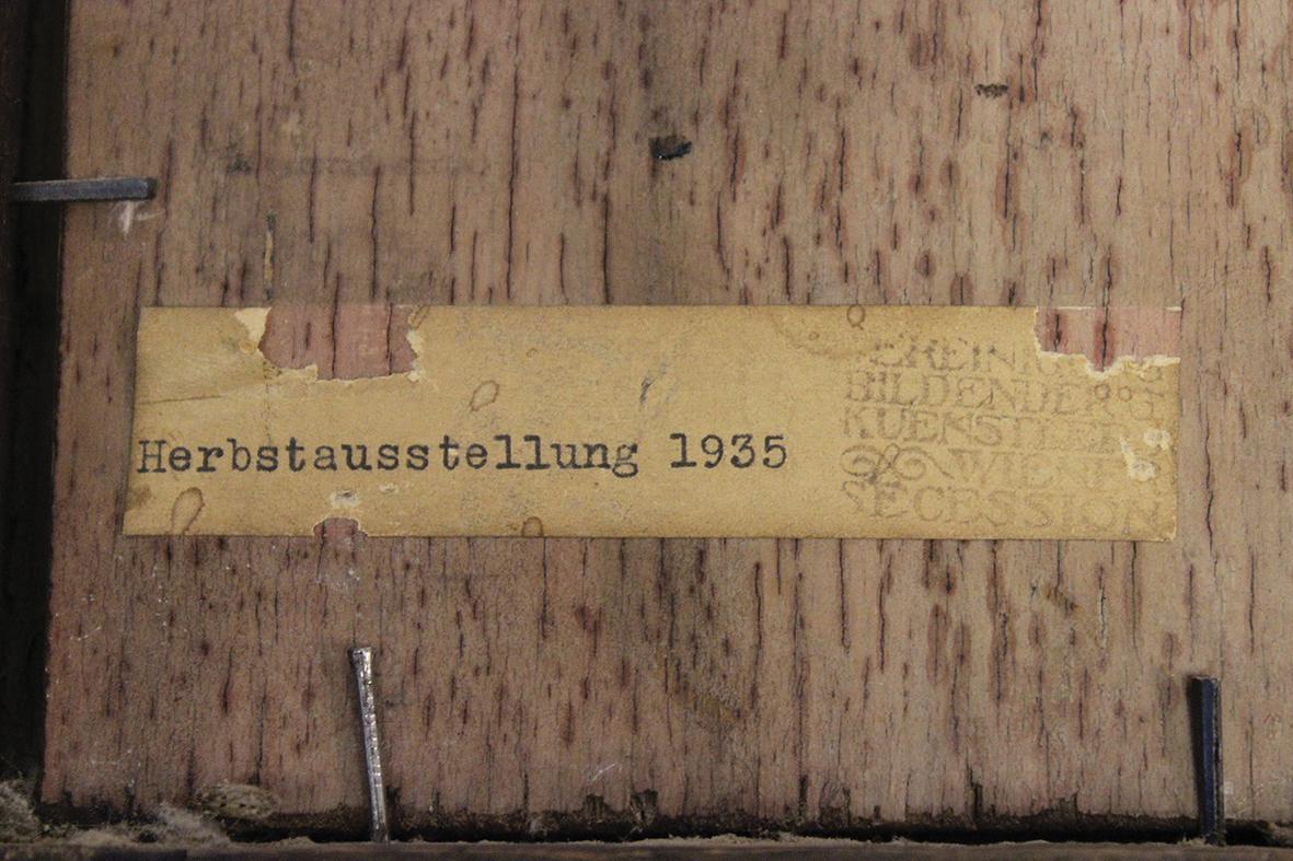 Étiquette pour l'exposition d'automne de La Sécession de Vienne