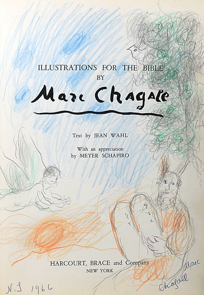 Title page of a book by Chagall