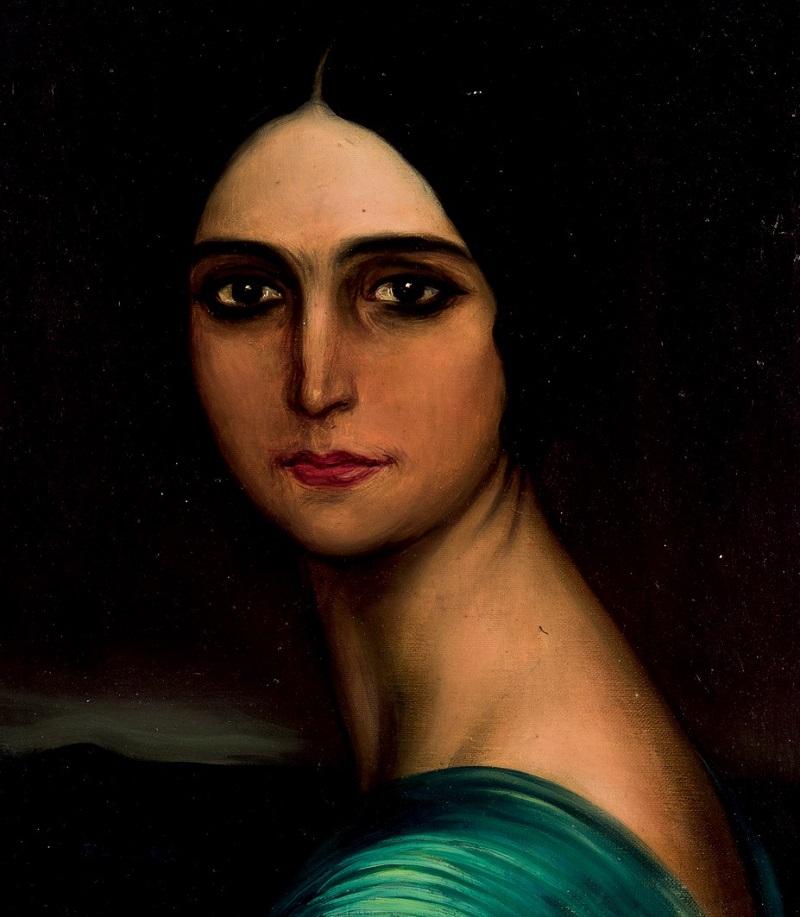 Lote 169: JULIO ROMERO DE TORRES. Mujer morena. Precio de salida: 25.000 €