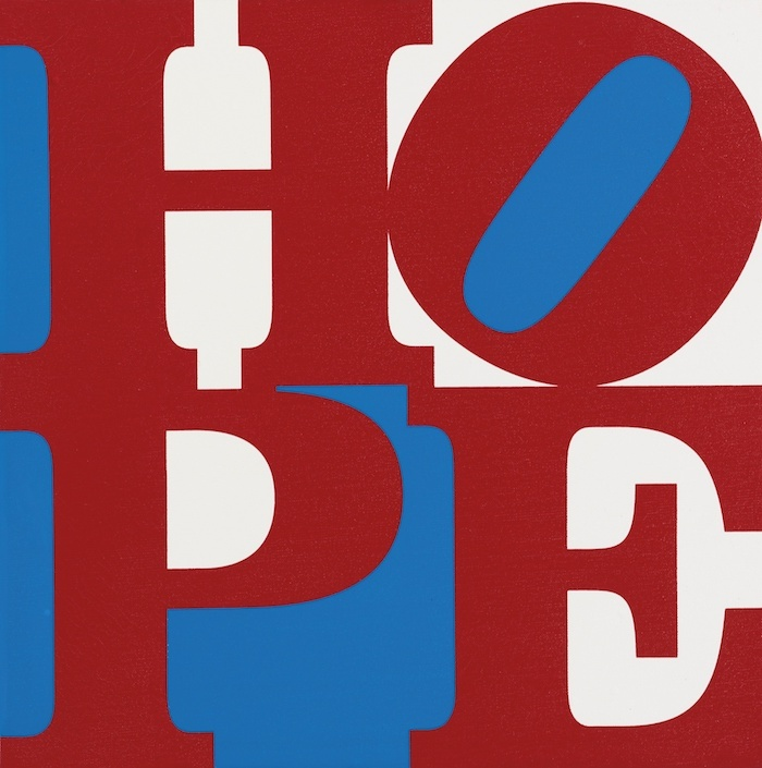 Robert Indiana, « HOPE », image via Sotheby's.
