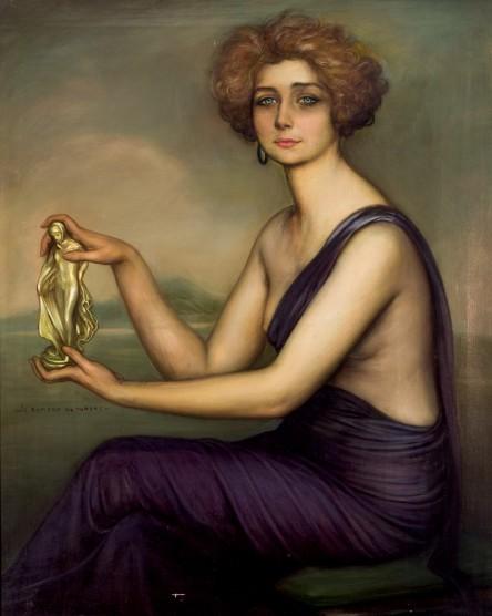 JULIO ROMERO DE TORRES (1874 Córdoba 1930) - Retrato de Teresa, Öl und Tempera/Lwd., signiert, 1920