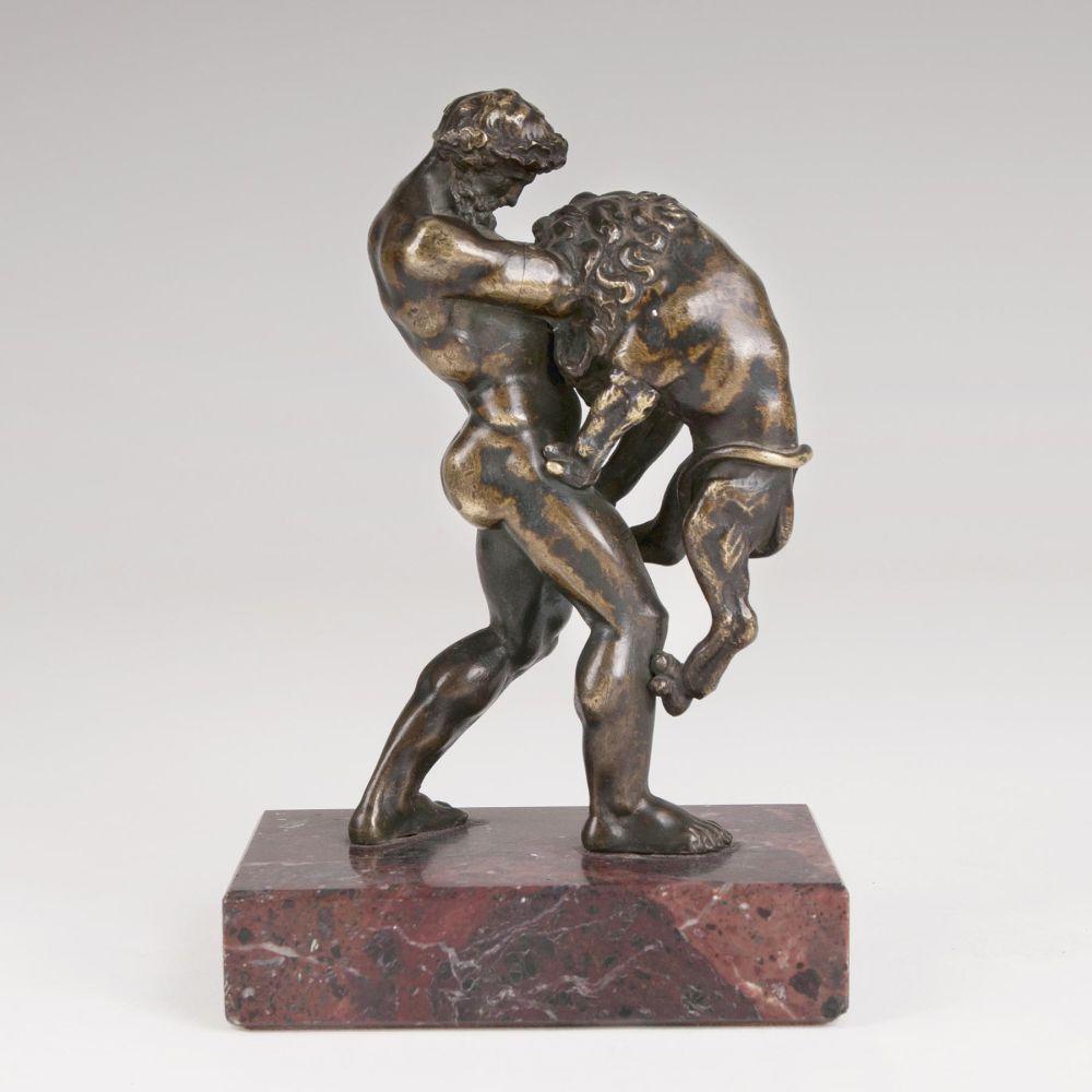 VETTOR GAMBELLO GEN. CAMELIO ( um 1460 Venedig 1537) Umkreis - Herkules und der Nemäische Löwe, Bronze, Venedig 16. Jh.