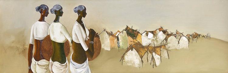 """""""Tre kvinnor"""" av B Prahba, inköpt i Bombay 1978 kan mycket väl bjuda på en rejäl överraskning"""