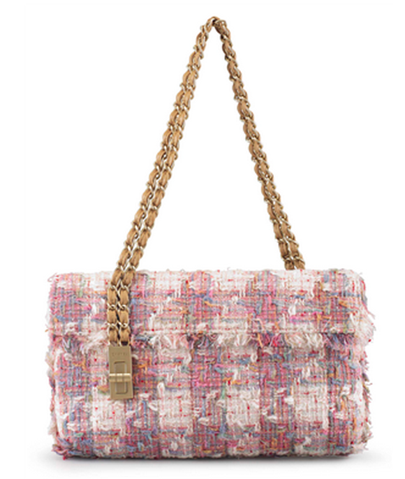 Chanel, 2003-2004 Sac bleu et rose en tweed Christie's online only
