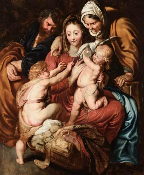"""Der Überlieferung nach befand sich die bei Cambi angebotene Version von Peter Paul Rubens """"Heilige Familie mit der Hl. Elisabeth und dem Johannesknaben mit der Taube"""" lange im Besitz der römischen Adelsfamilie Colonna"""