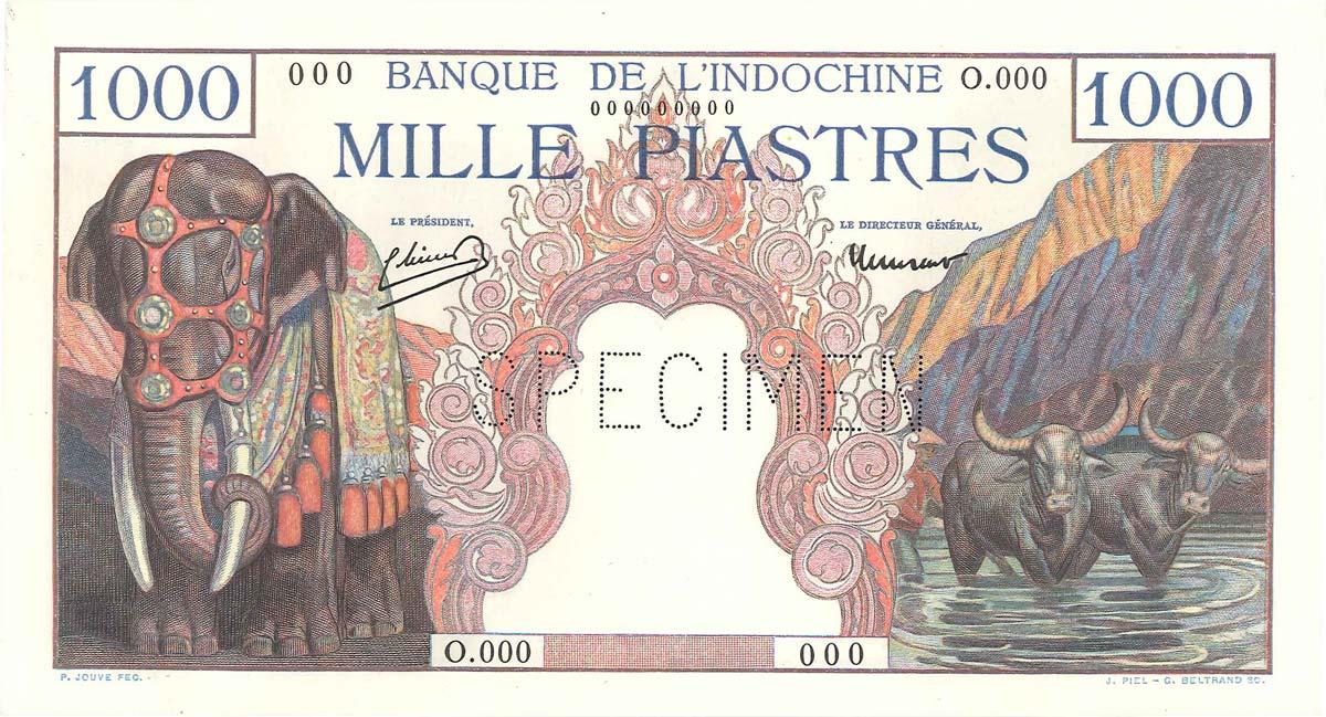 1000 Piastres INDOCHINE FRANÇAISE 1951 P.084s1