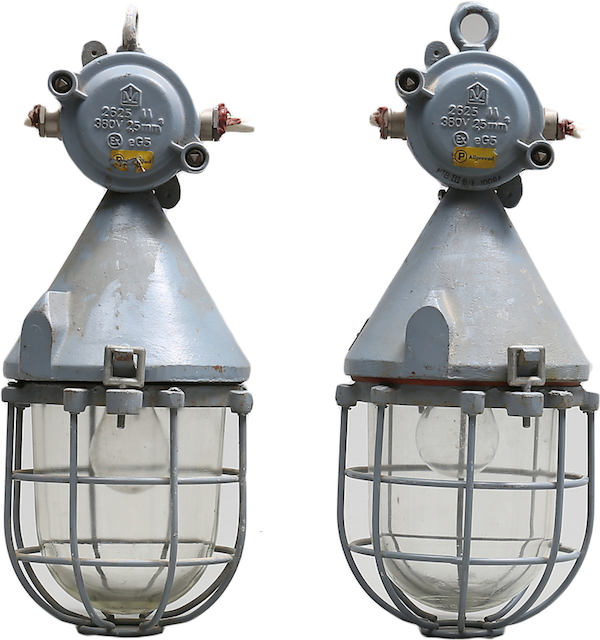 Industrilampor, 1900-tal. På auktion hos Auktionshuset Thelin och Johansson.