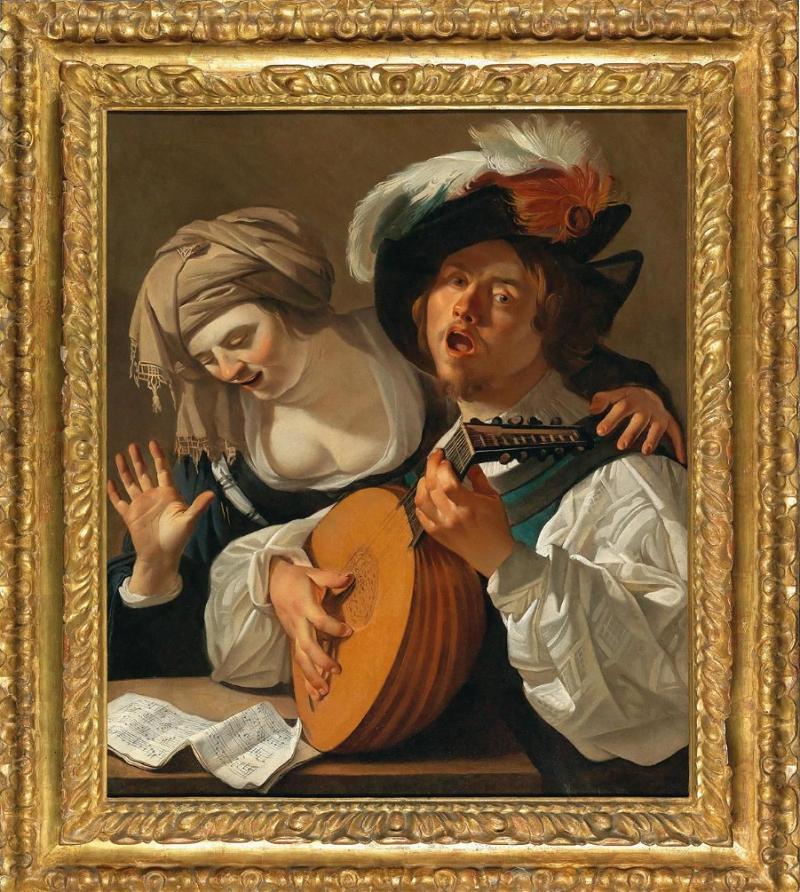 DIRCK VAN BABUREN. El dueto (c. 1629)