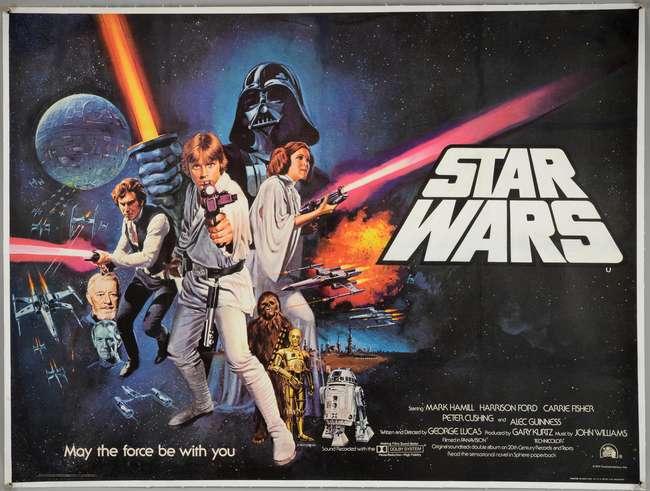 "Filmplakat zu ""Star Wars"", 1977 Ewbank's"