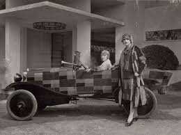 A car painted by Sonia Delaunay
