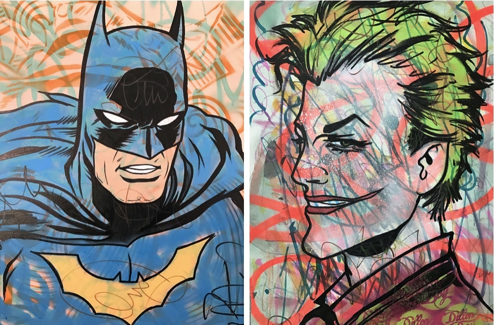 Gauche: Batman Droite: The Joker/The Suicide Squad