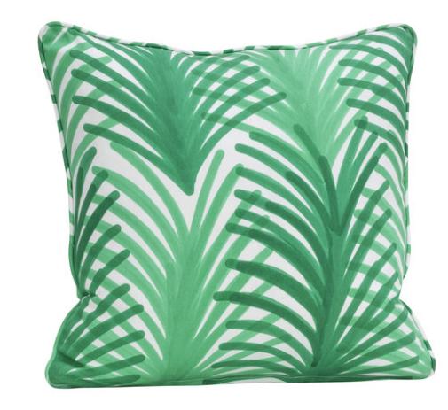 Coussin Palme Green Artemest