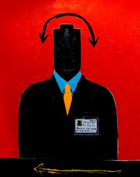 Emanuel Tegene, Hypocrite I, 2015 Addis Fine Art 2016 Armory Focus