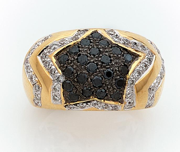 Bague diamants noirs Tajan