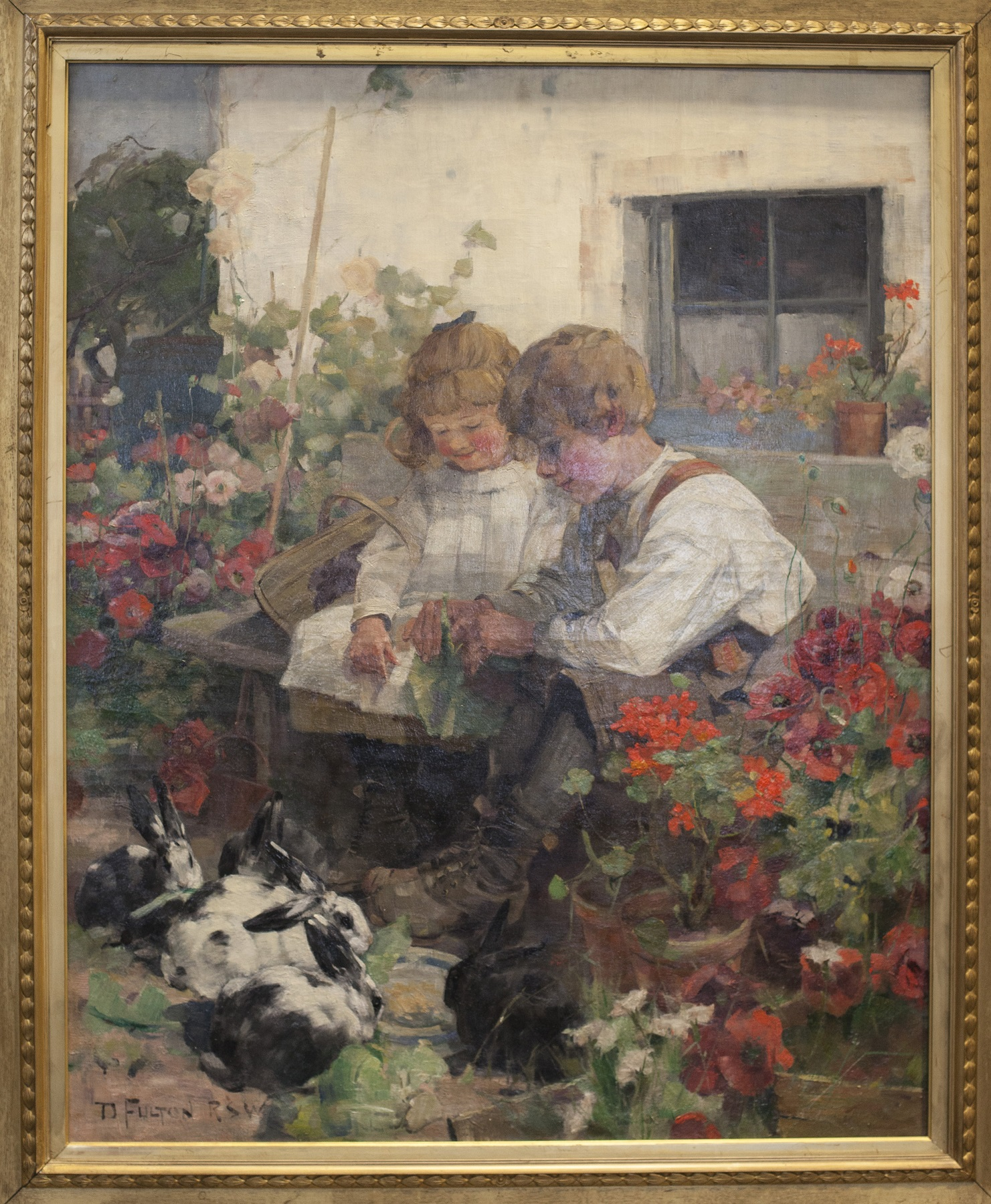 David Fulton's Siblings Feeding Rabbits has returned to Glasgow after 120 years. The painting will auctioned by McTear's on 14th February - 1