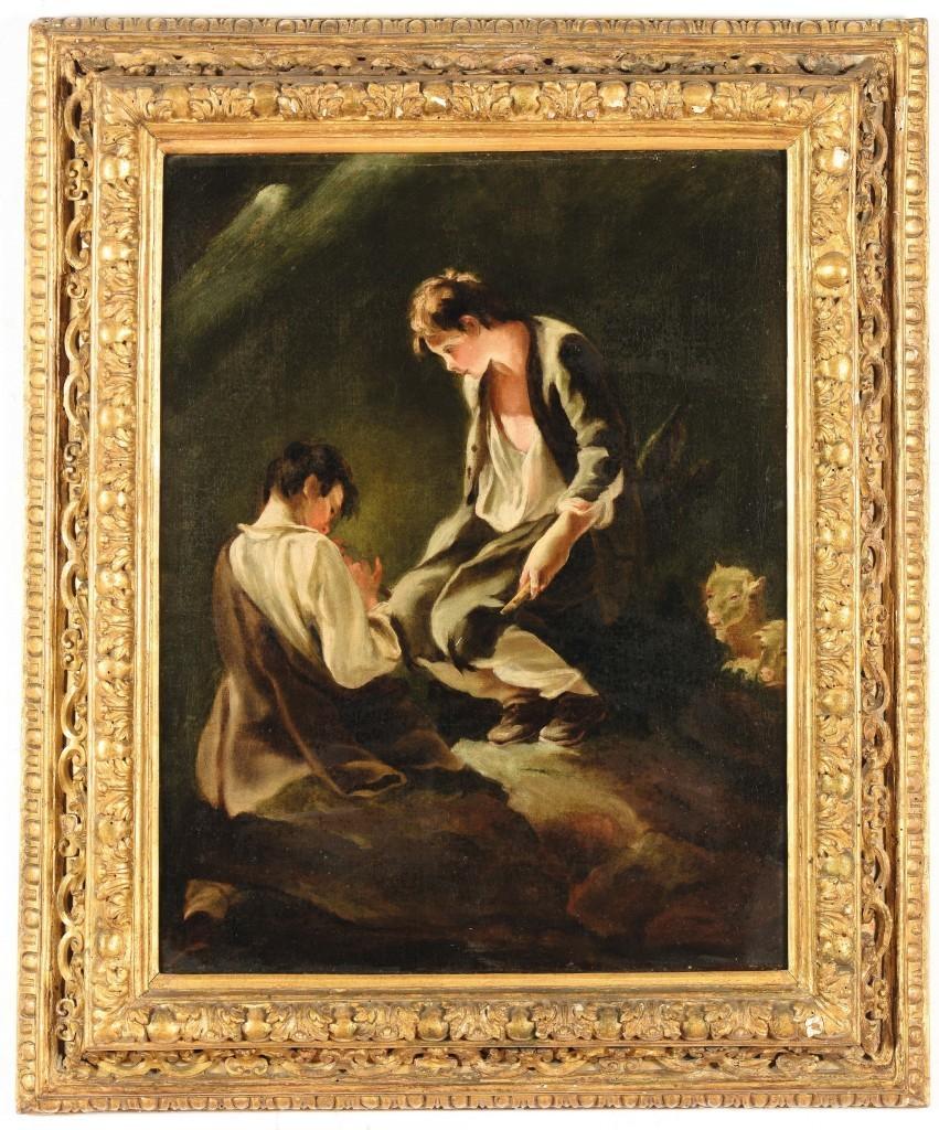 Pietro Longhi, Shepherd's scene with flute play Estimate: $33 000-38 000