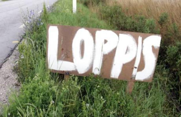 Loppis, Loppisskylt, Gotland, Loppis är poppis