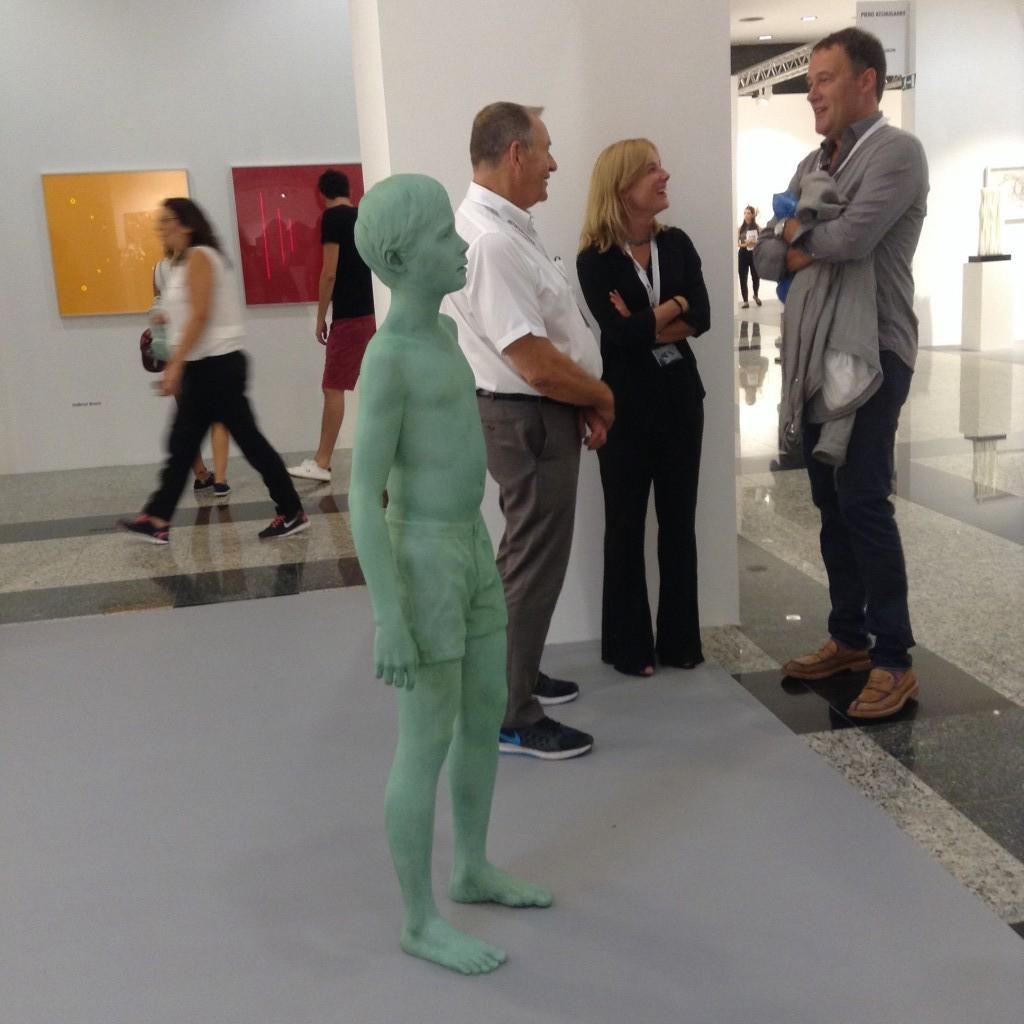 Galleri Andersson/Sandström visade bland annat Lars Nilssons skulptur och Maria Fribergs fotografier.