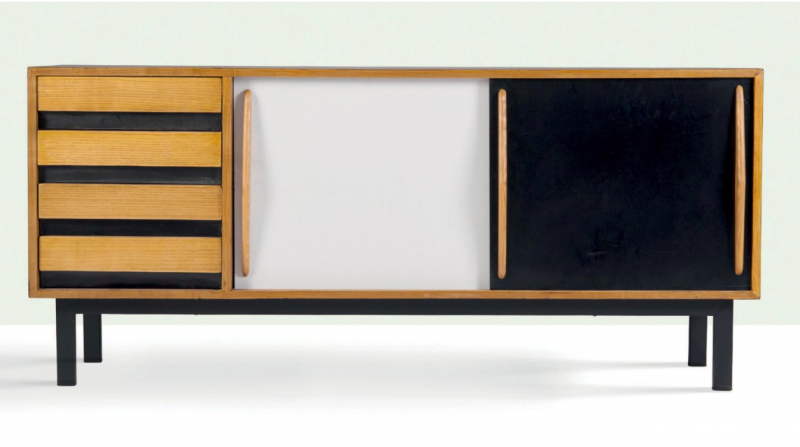 Charlotte Perriand, Sideboard, 1958. Photo: Aguttes.