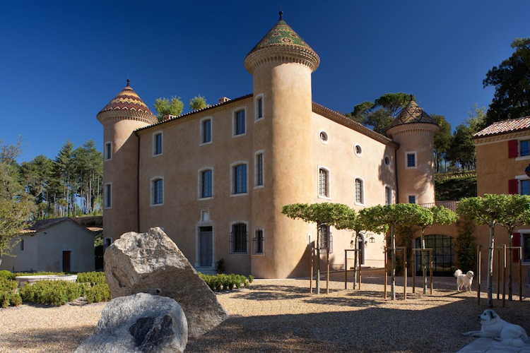 Chateau Fabrègues close to the town Aups in Provence.