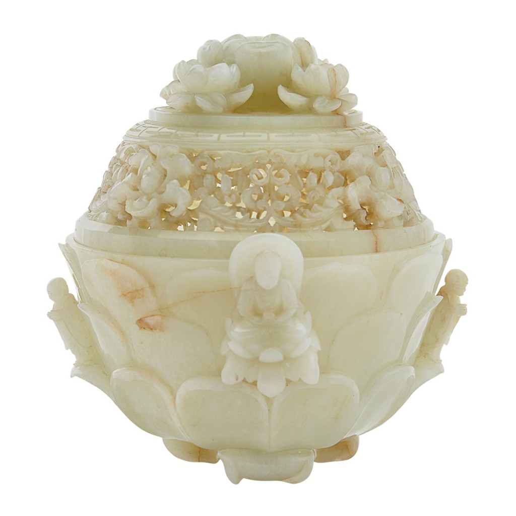 Chinese jade white censer